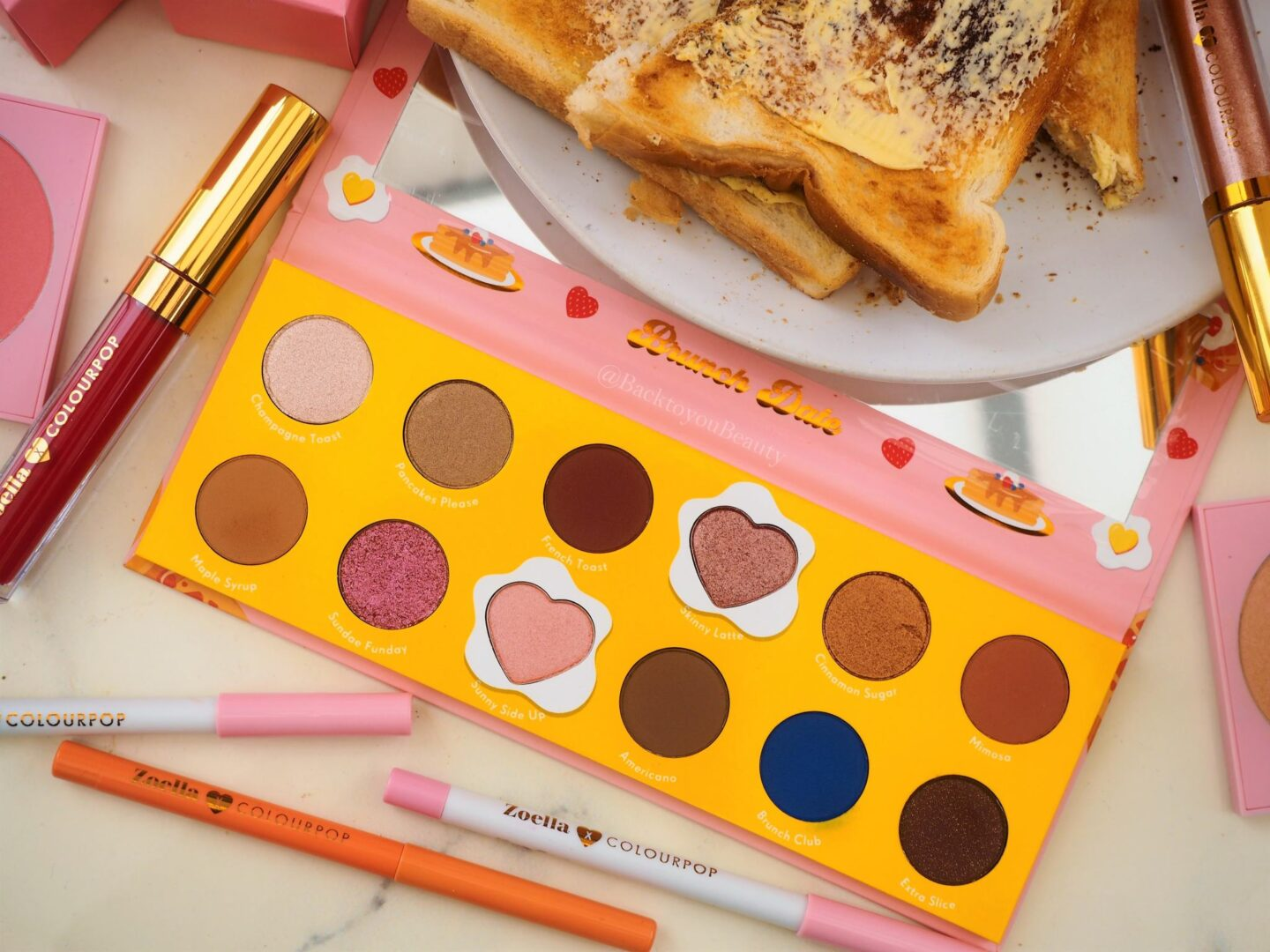 Brunch Date Palette zoella x colourpop