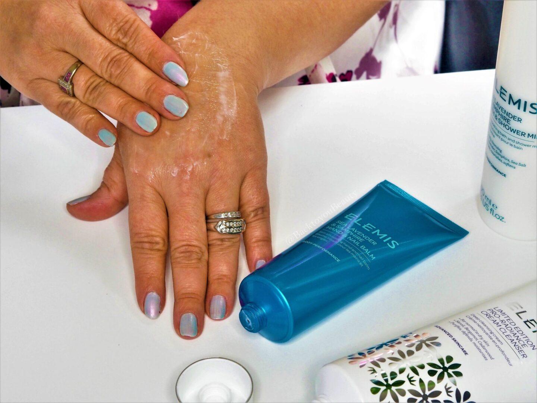 Sea Lavender & Samphire Hand & Nail Balm Application