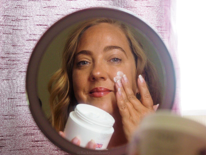 SBC Hydra Collagen Intensive Moisturiser in the mirror