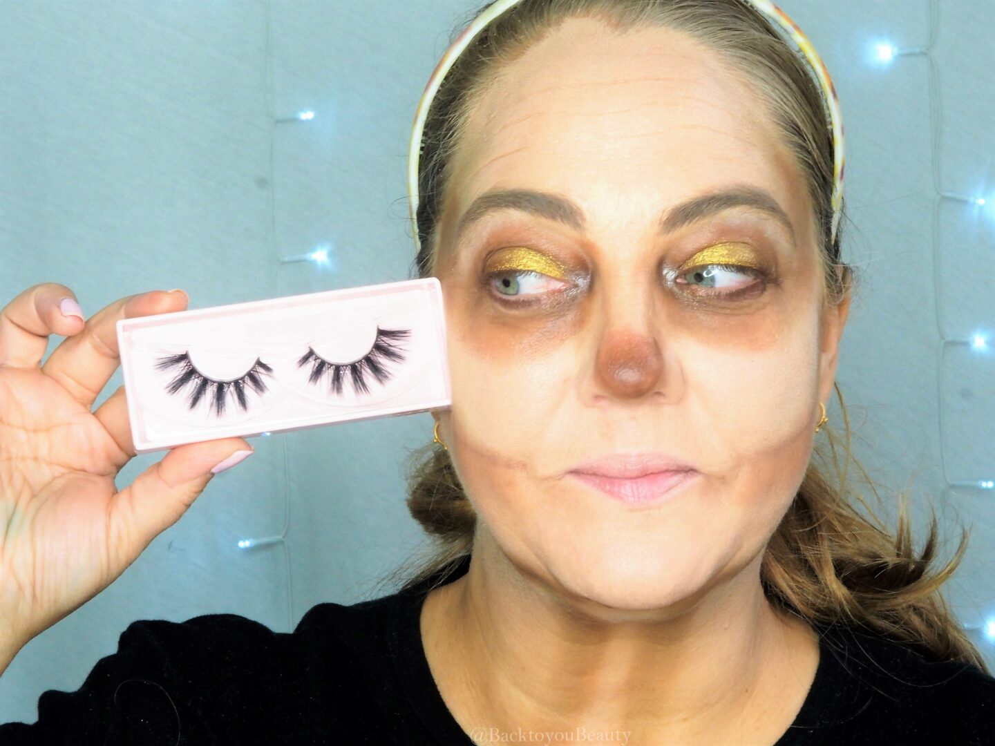 Adding the Doll Lash in shape Poppy Halloween look