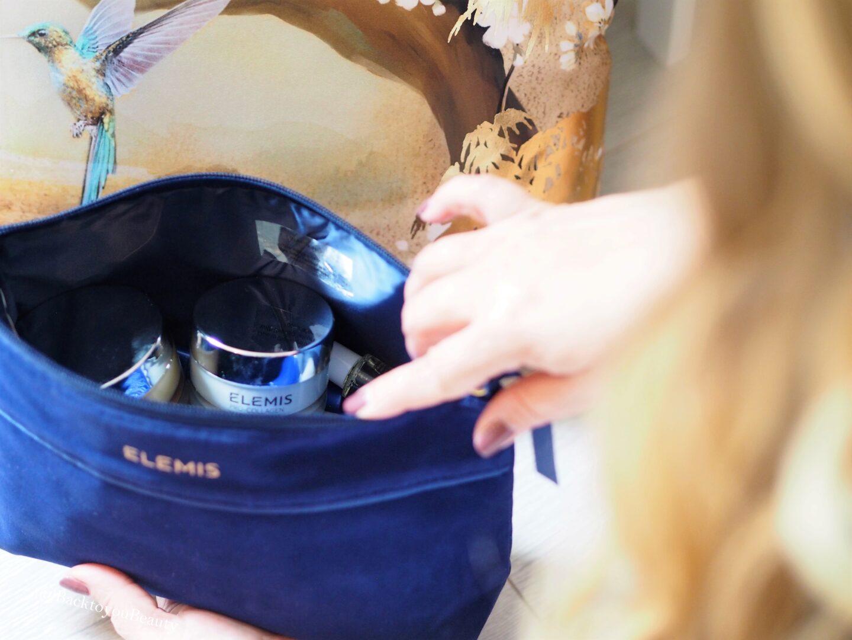 Elemis blue suede bag Christmas tsv 2019