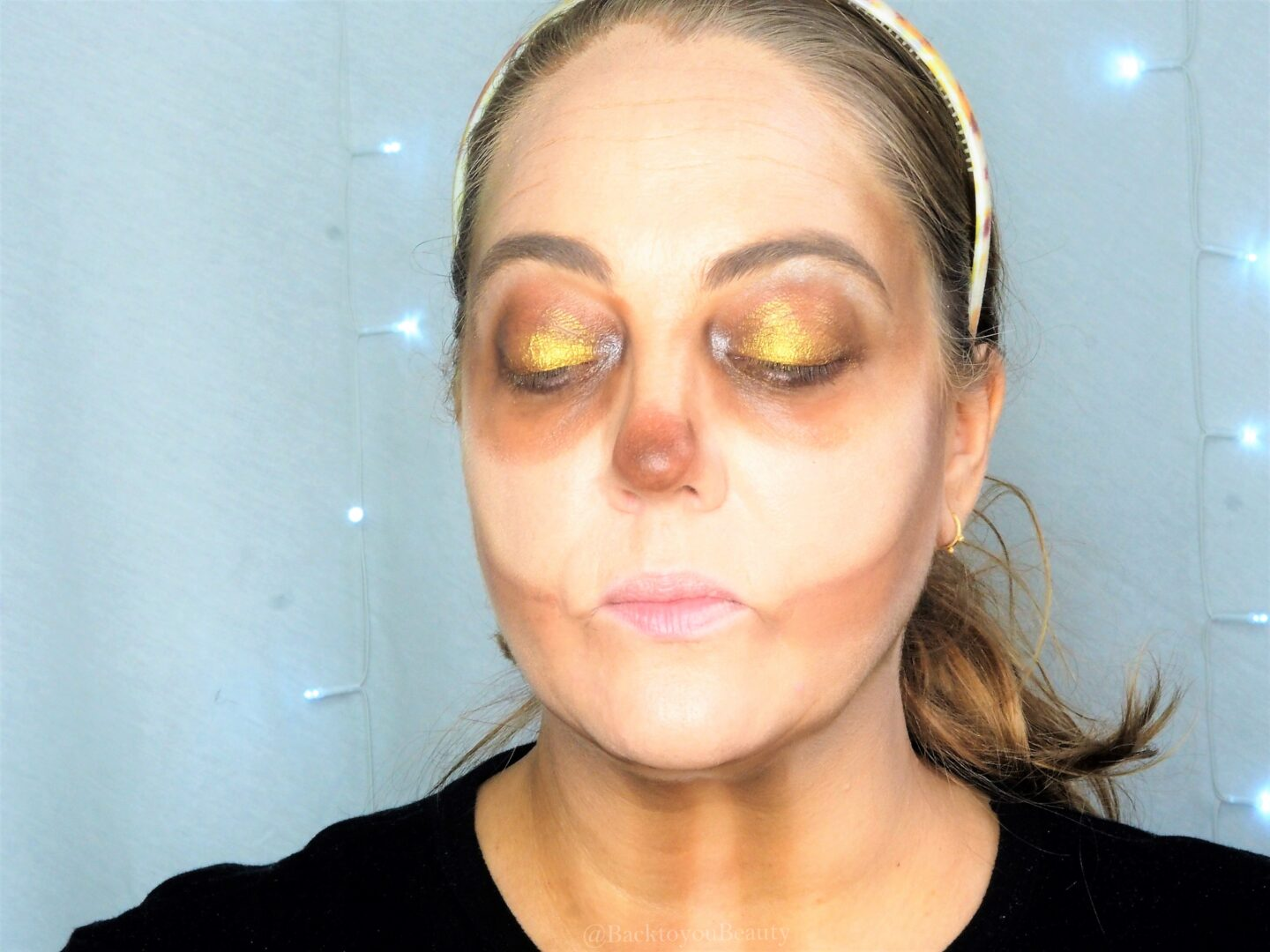 Morphe jaclyn Hill Palette coin Halloween tutorial