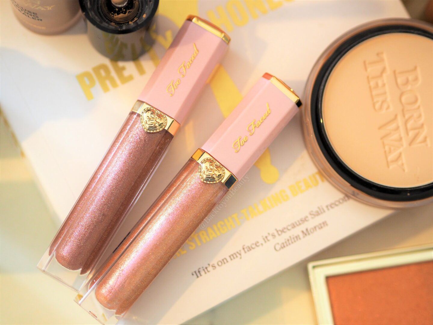 Too Faced Rich & Dazzling High-Shine Sparkling Lip Glosses