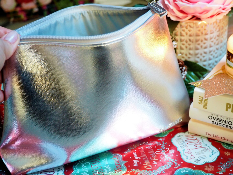 Elemis silver cosmetics bag