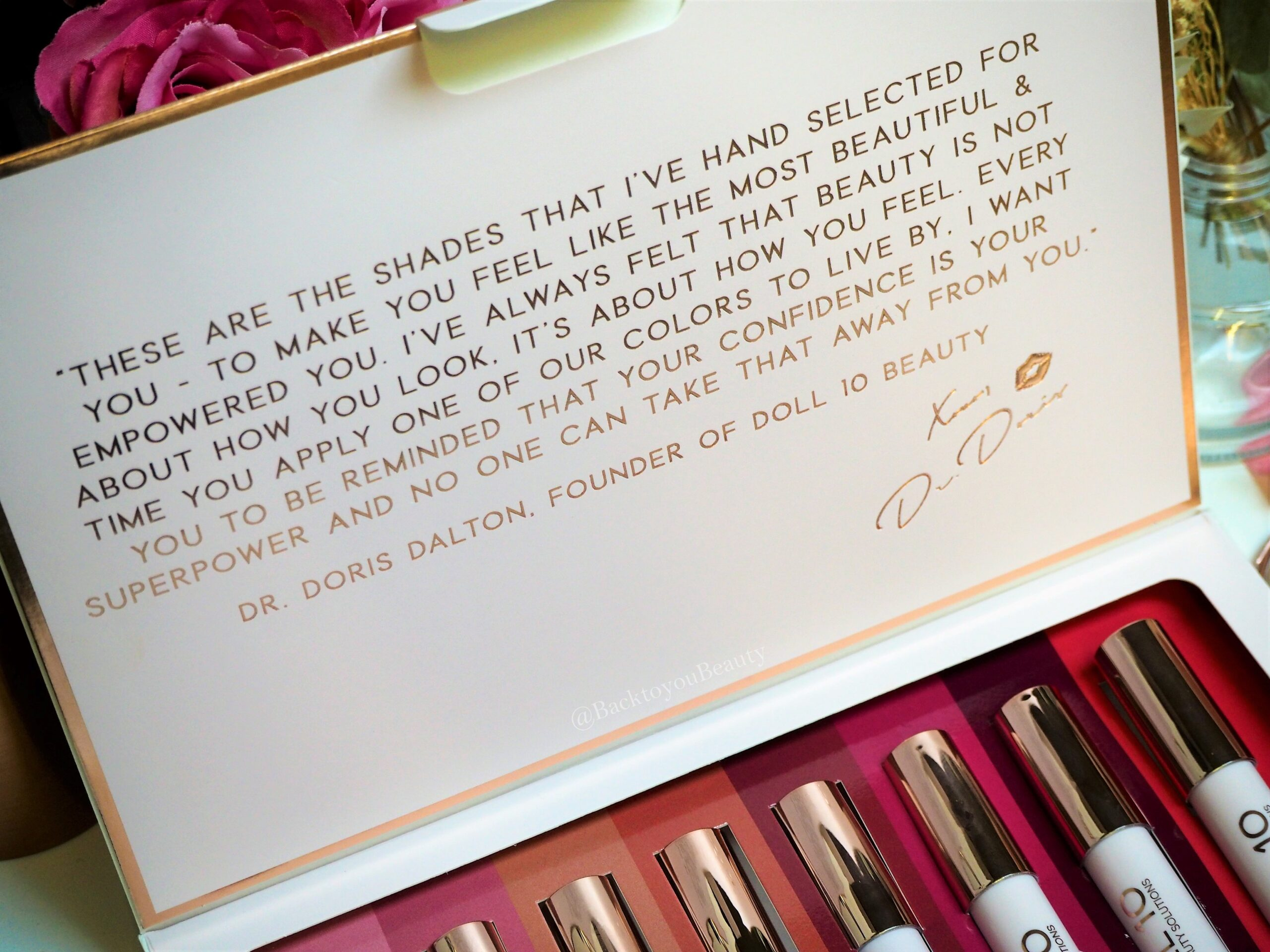 Doll 10 Colors to live by collection packaging