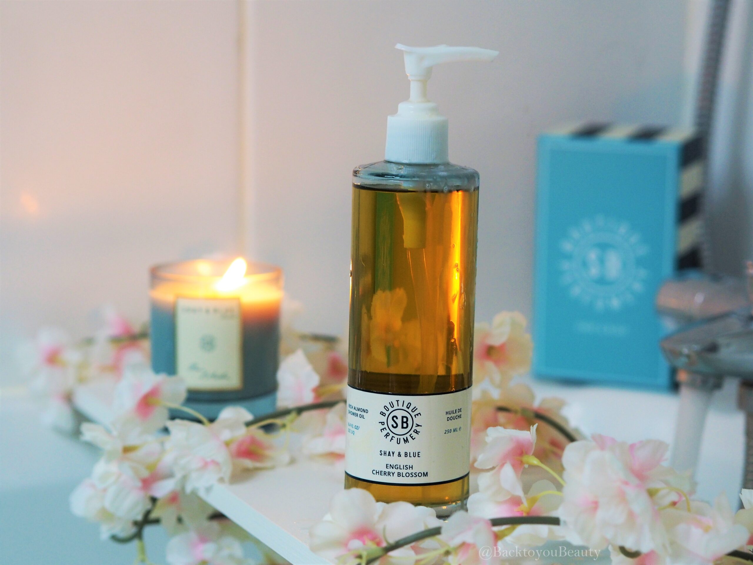 shay & blue cherry blossom shower oil